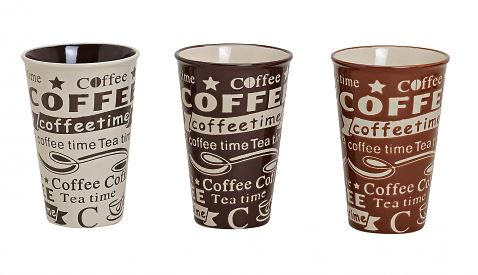 CoffeeShop-Becher aus Keramik, im 3er Set