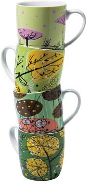 Im Stil der modernen 50er-Jahre: 4er-Kaffeetassenset
