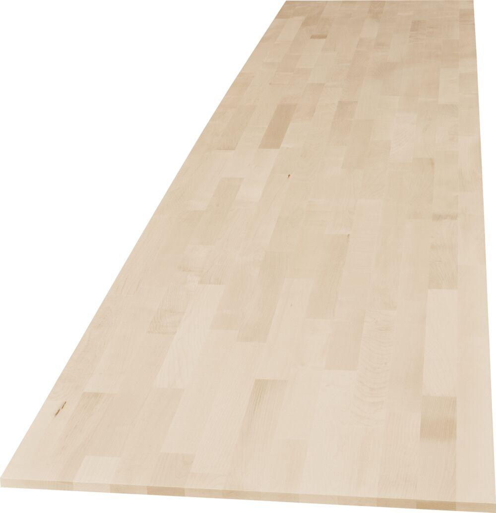 1-Schicht Massivholzplatte Ahorn A/B keilgezinkt
