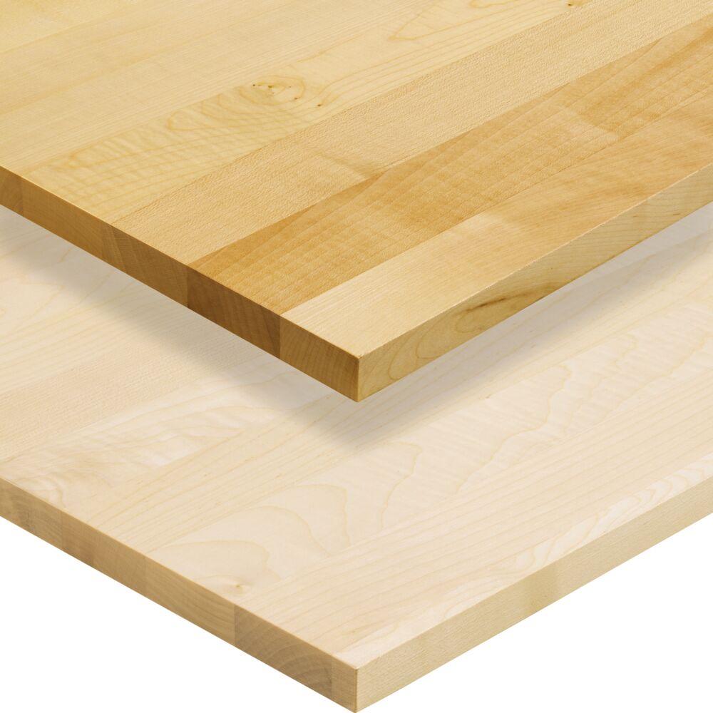 1-Schicht Massivholzplatte Ahorn europ. A/B select, oben Oberfläche geölt, unten Oberfläche roh (DG)