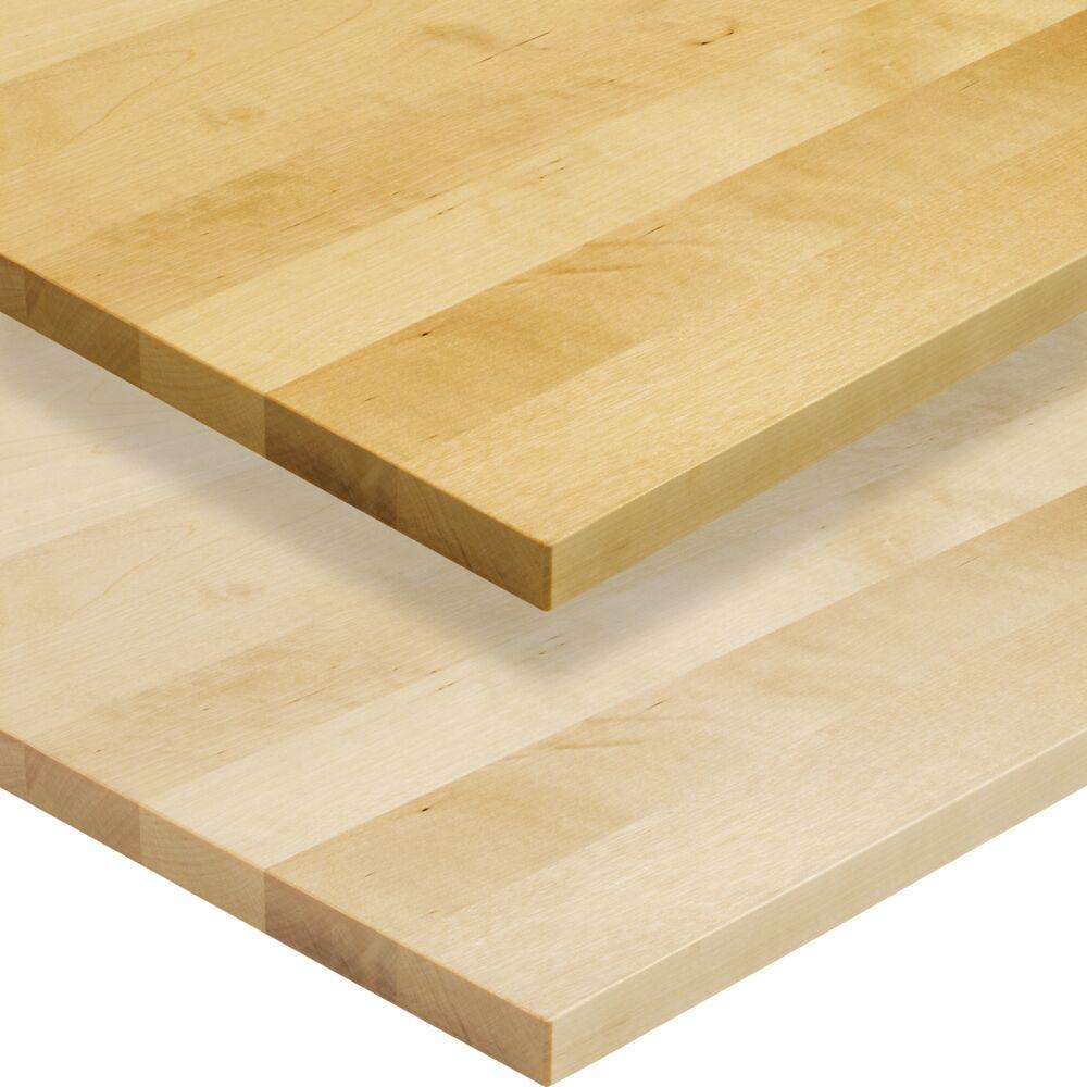 1- Schicht Massivholzplatte Birke A/B select Oberfläche oben geölt, Oberfläche unten roh