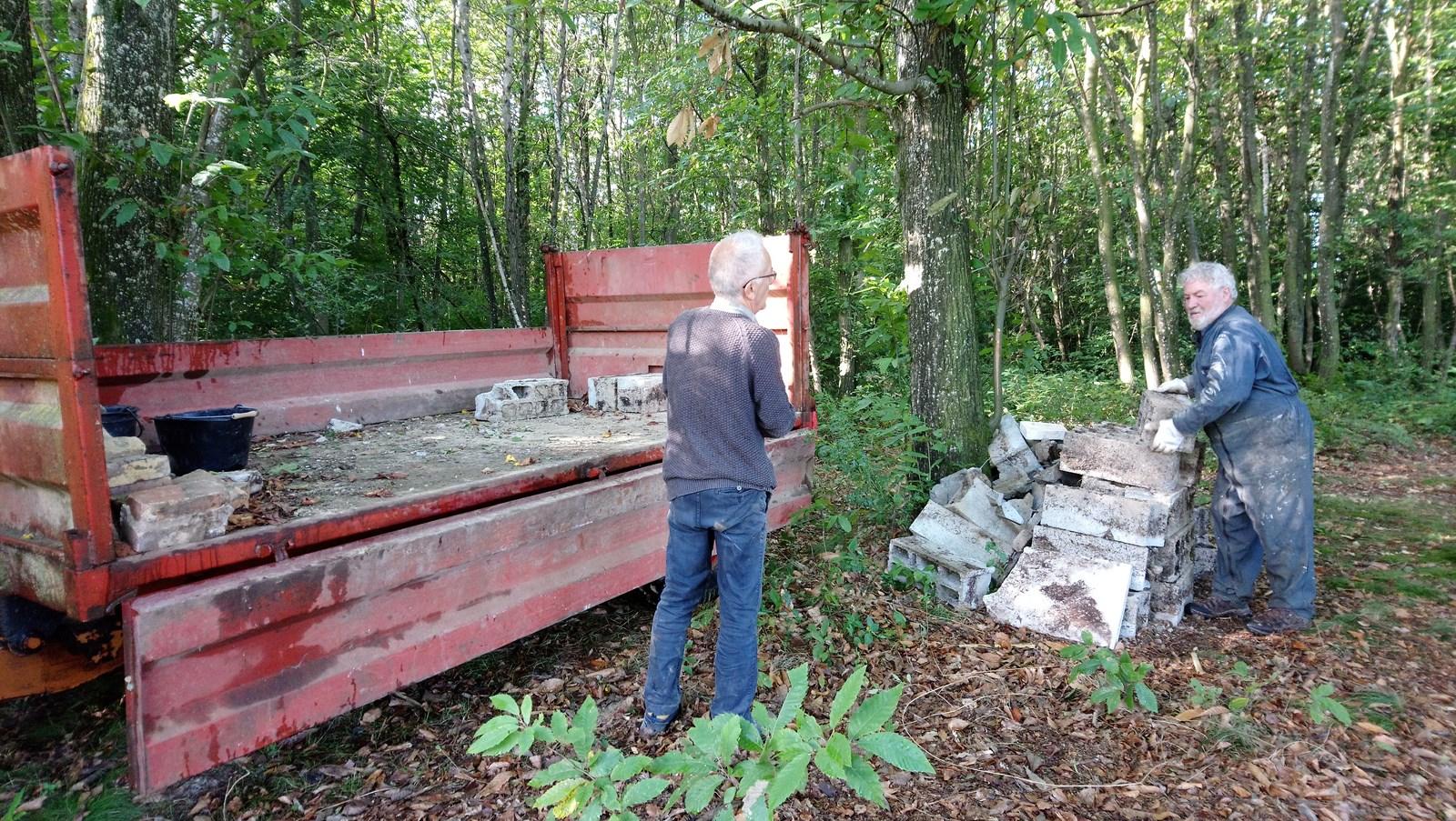 Evacuation de déchets inertes, automne 2017
