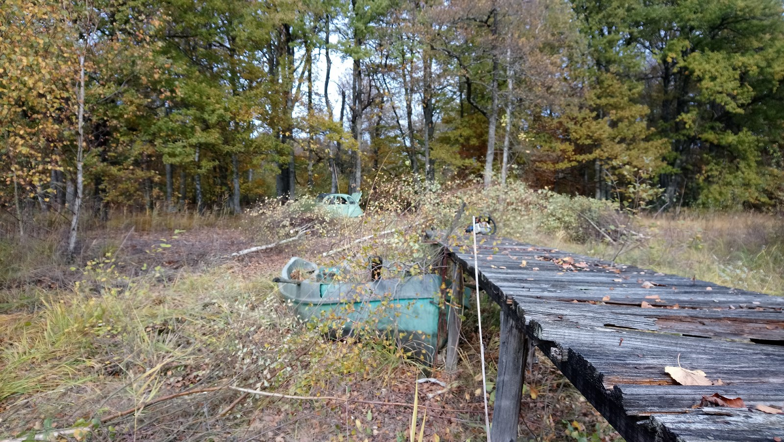 Démontage des ruines de pontons, automne 2017