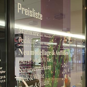 Schaufenster New York Nails