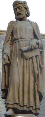 Baudouin IV de Hainaut par Edmond de Valériola (1877-1956), Square Eugène Derbaix à Binche