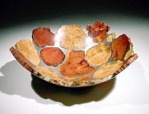 coupe mosaique - buis, cade, bruyère étain dia 30 cm - 1996