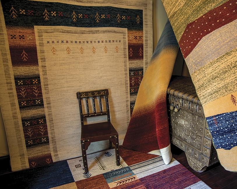 Ethno Teppich aus Wolle
