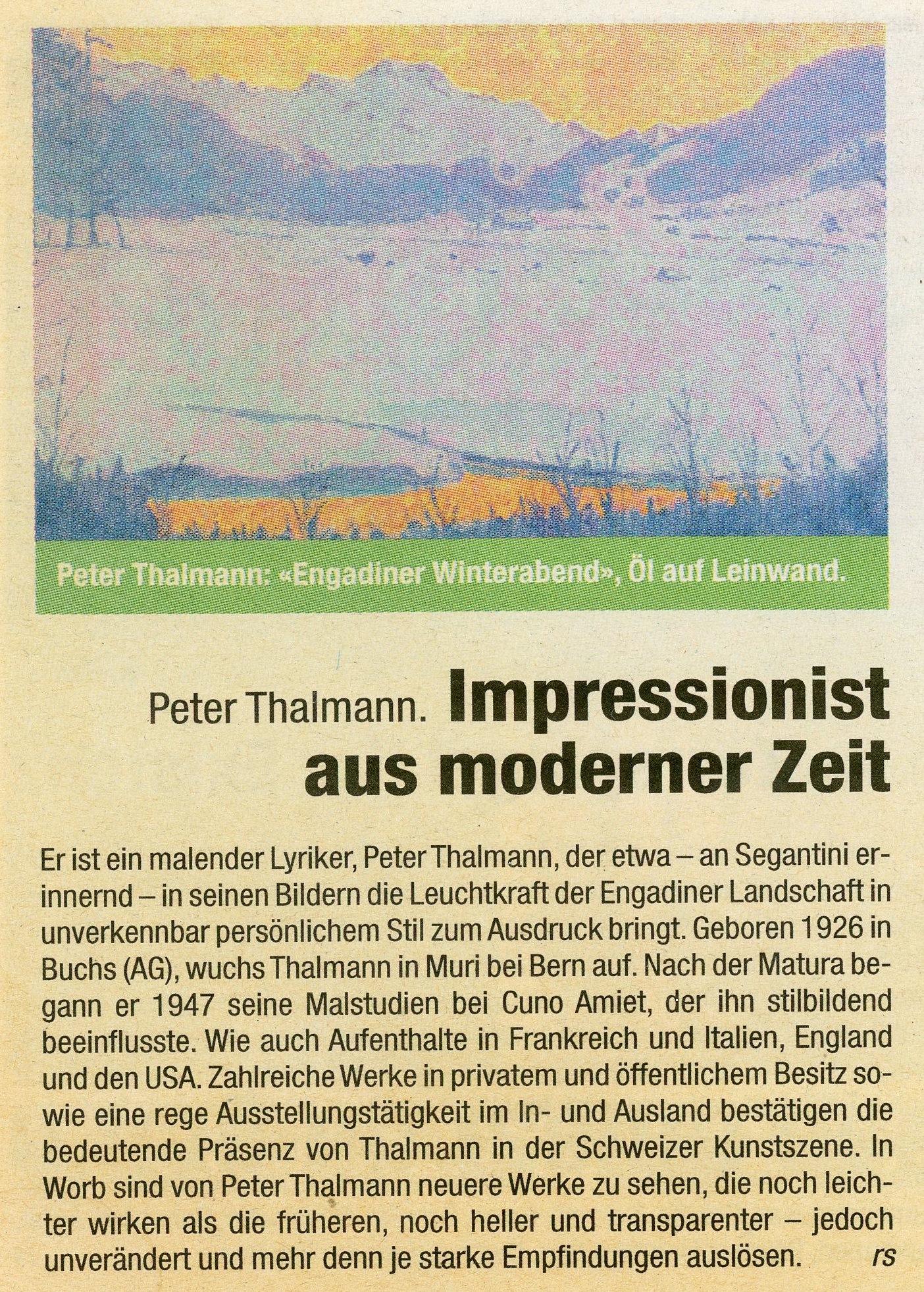 2002, Worb, Zeitungsbericht