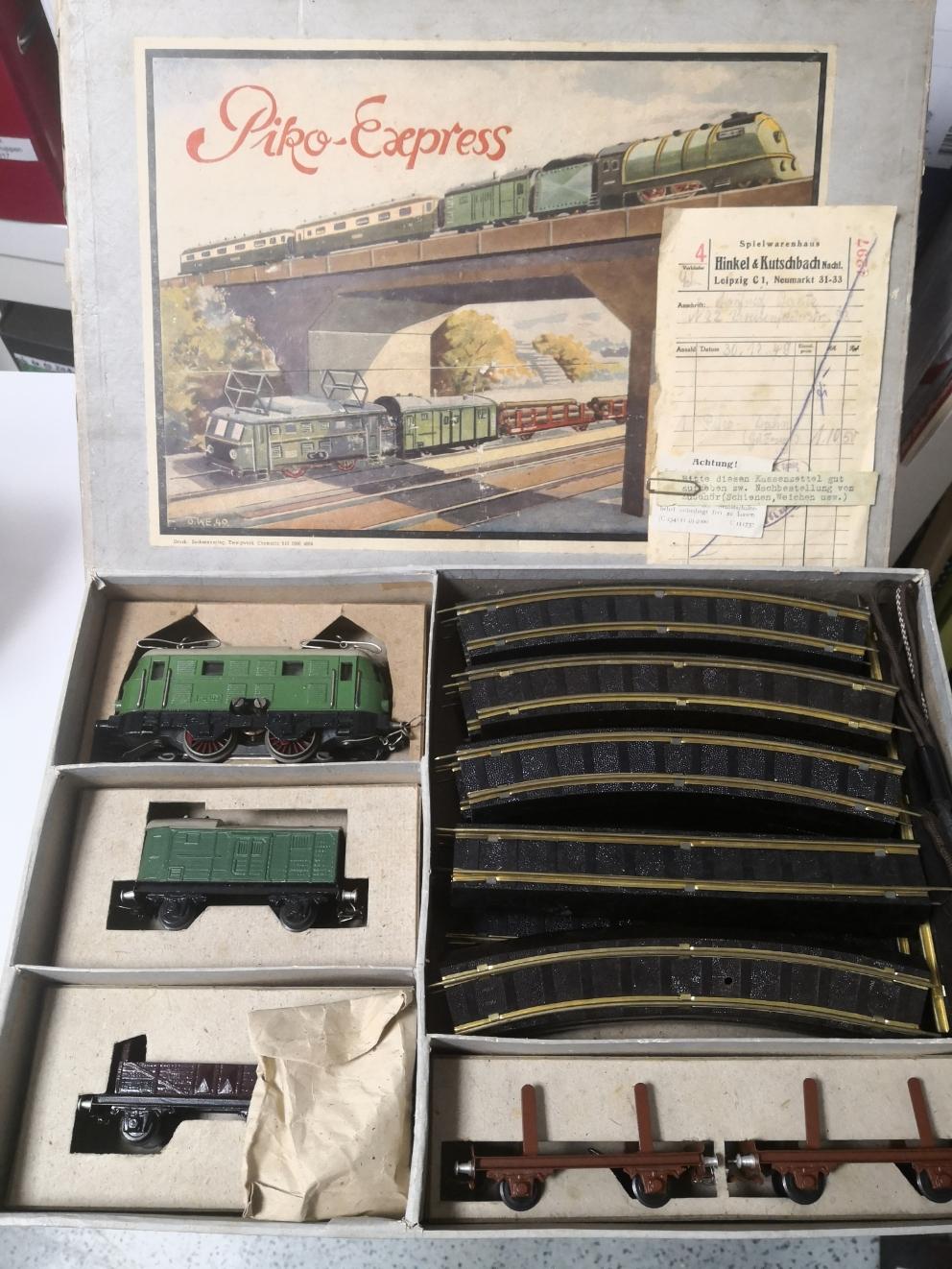 PIKO Express Packung, Lok defekt, originaler Kassenbeleg von 1949... 399€