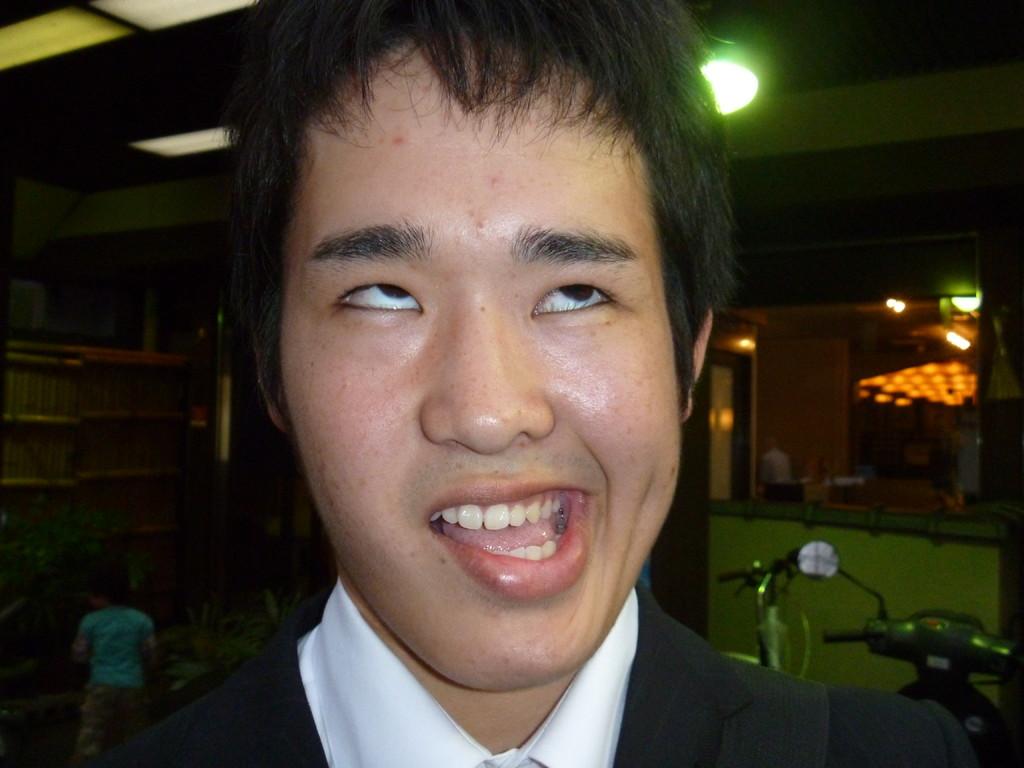 湯澤の変顔