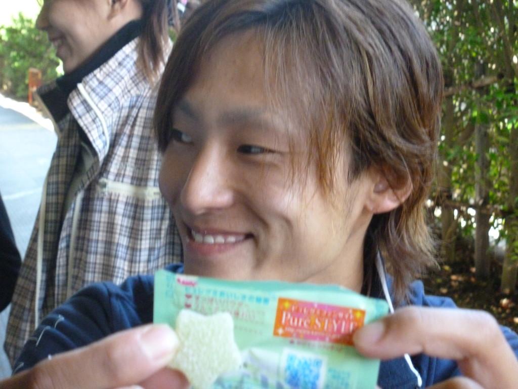 萩原さん なんちゃってお菓子のCM後(笑)