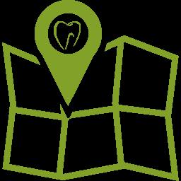Karte zur Lage der Zahnartpraxis Behrendt