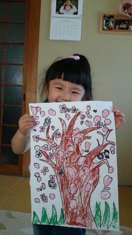 桜満開の笑顔です。Kちゃんの夢の花はキラキラです。私も負けづに学びます。