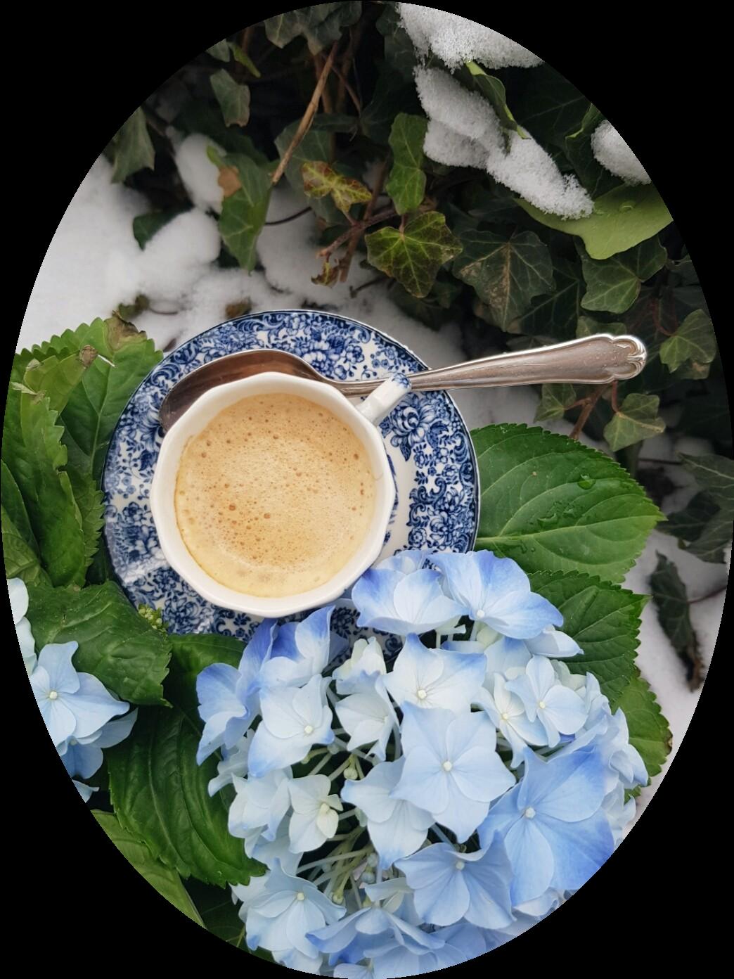 Auch im Winter liebe ich einen Espresso im Garten