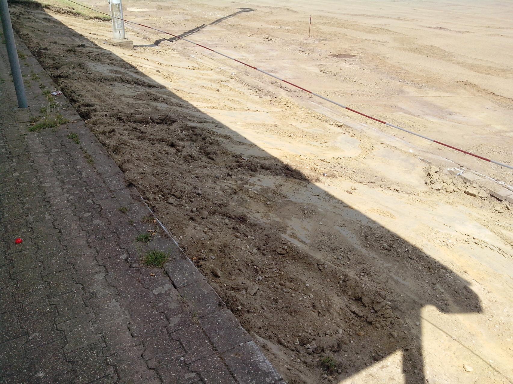 06.07.2015: Vorarbeiten für die Sitzreihen wurden durchgeführt