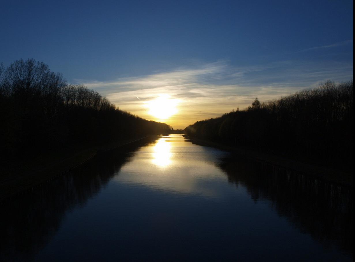 Blick von Brücke 112 km 78,430 in Richtung Brücke 113