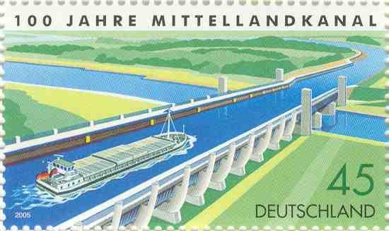 Briefmarke 100 Jahre Mittellandkanal
