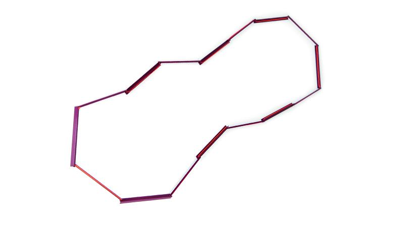 Halskette T-Line in Turn, Metall pulverbeschichtet