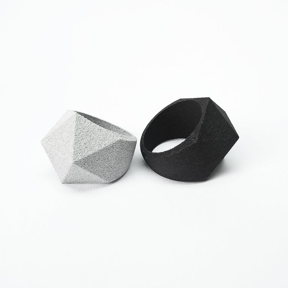 Ringe Facet, graues oder schwarzes Polyamid