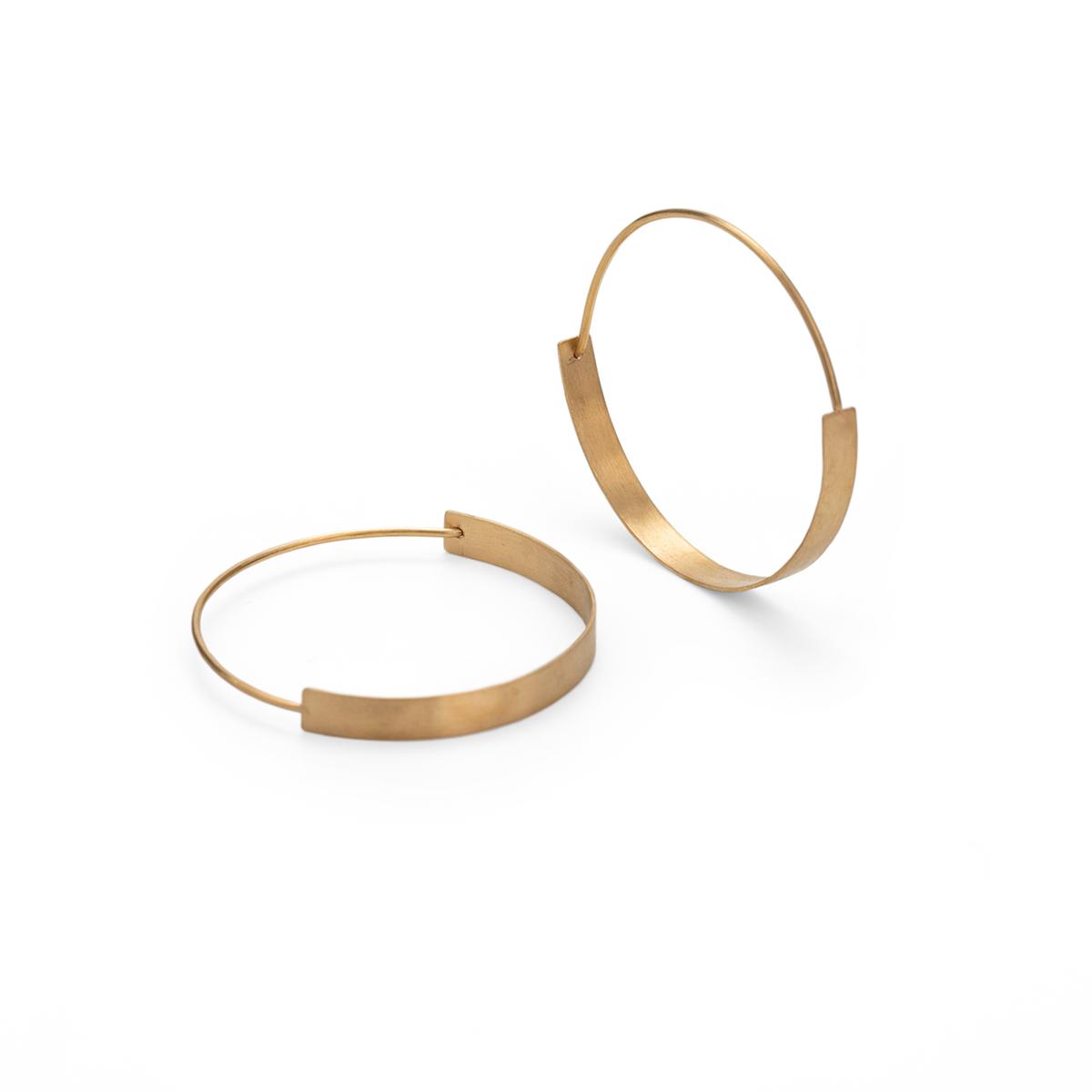 Ohrringe HoopHoop, Silber vergoldet