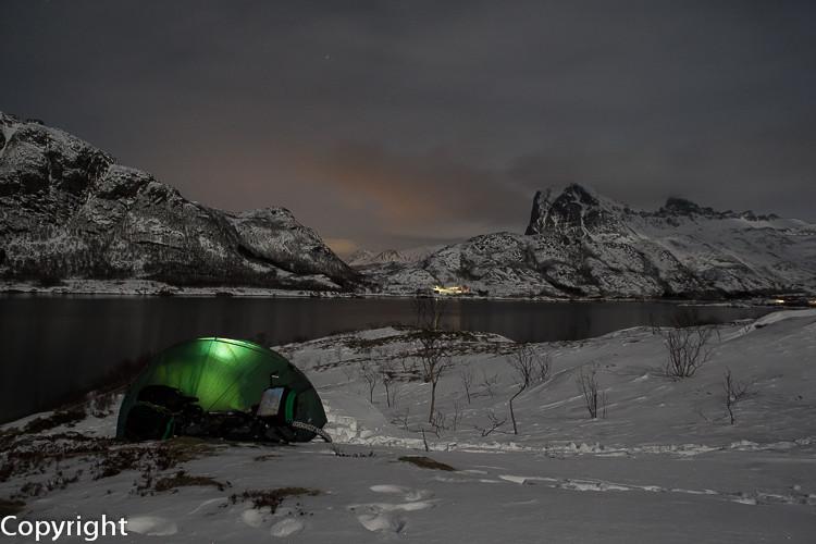 Wintercamping auf dem Kystriksveien