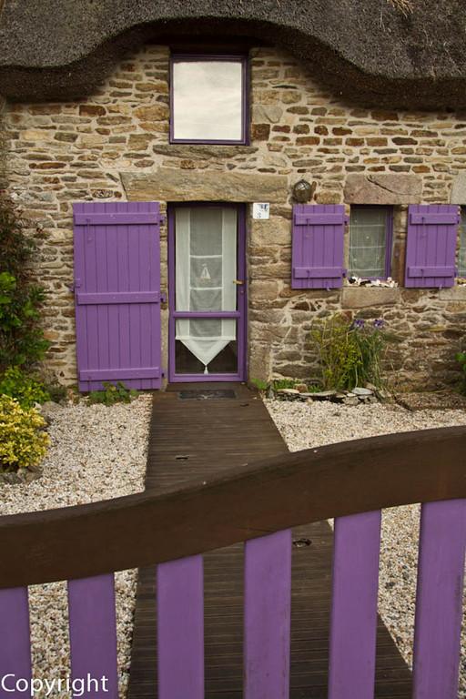 Reetdach Haus, Morbihan