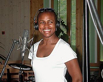 Janet Dawkins bei der CD Aufnahme