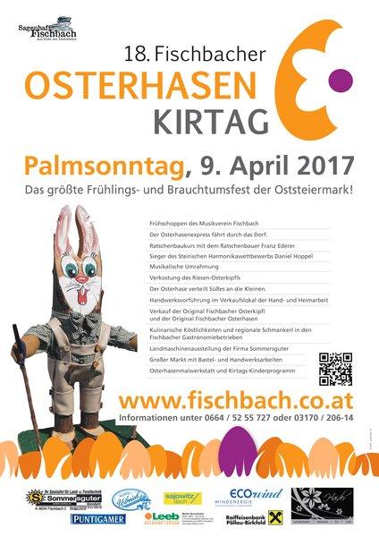 Plakat Osterhasenkirtag 2017