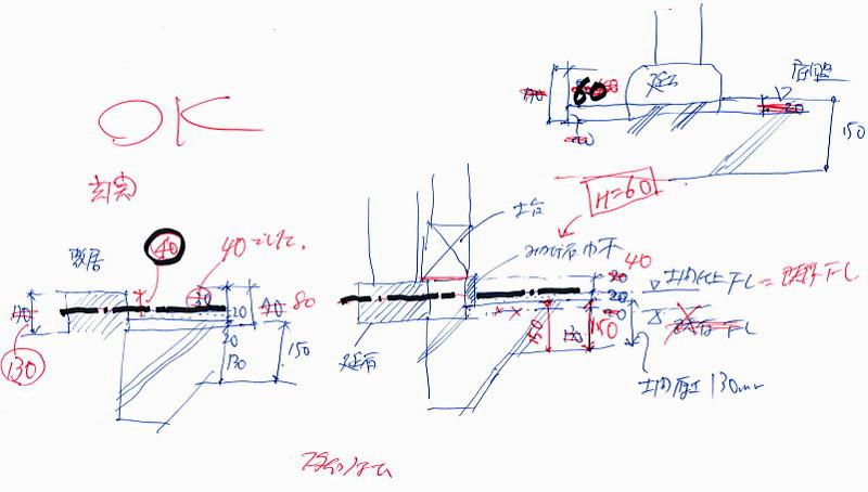 基礎の構造計算をもとに納まりを検討