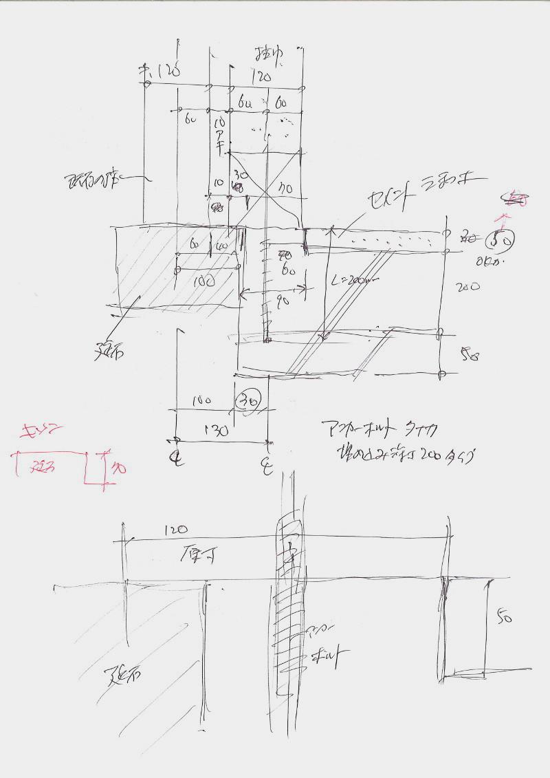 基礎とアンカーボルトの検討