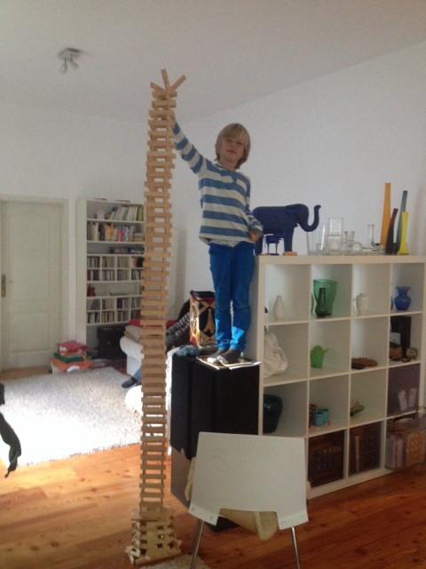 Turmbau mit Kapla