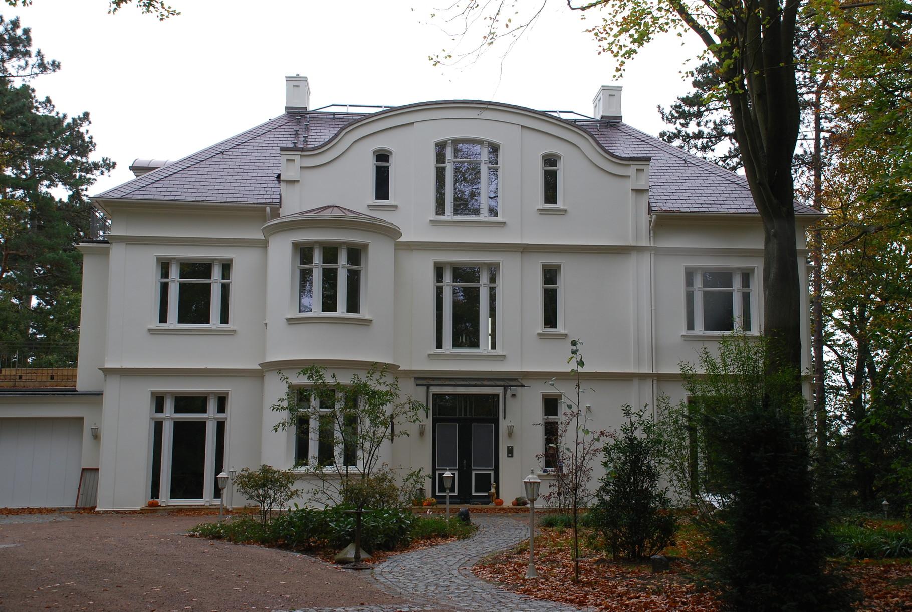 Neubau einer Villa in Hamburg Falkenstein