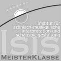 isis logo, musikalische gestaltung für schauspieler, szenische interpretation von musik, gesang, staging, acting,