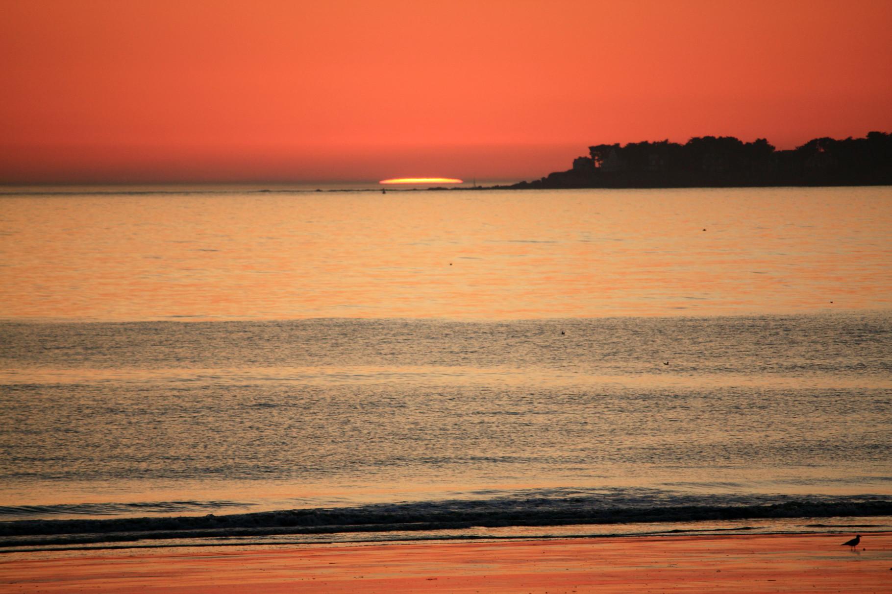 Coucher de soleil sur la baie