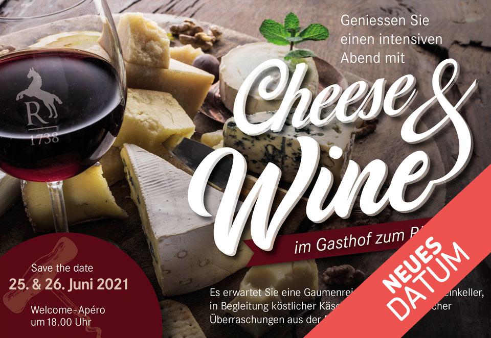 Cheese & Wine Event - Verschoben in den Juni