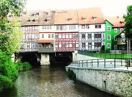 Cầu có nhà ở tại Erfurt