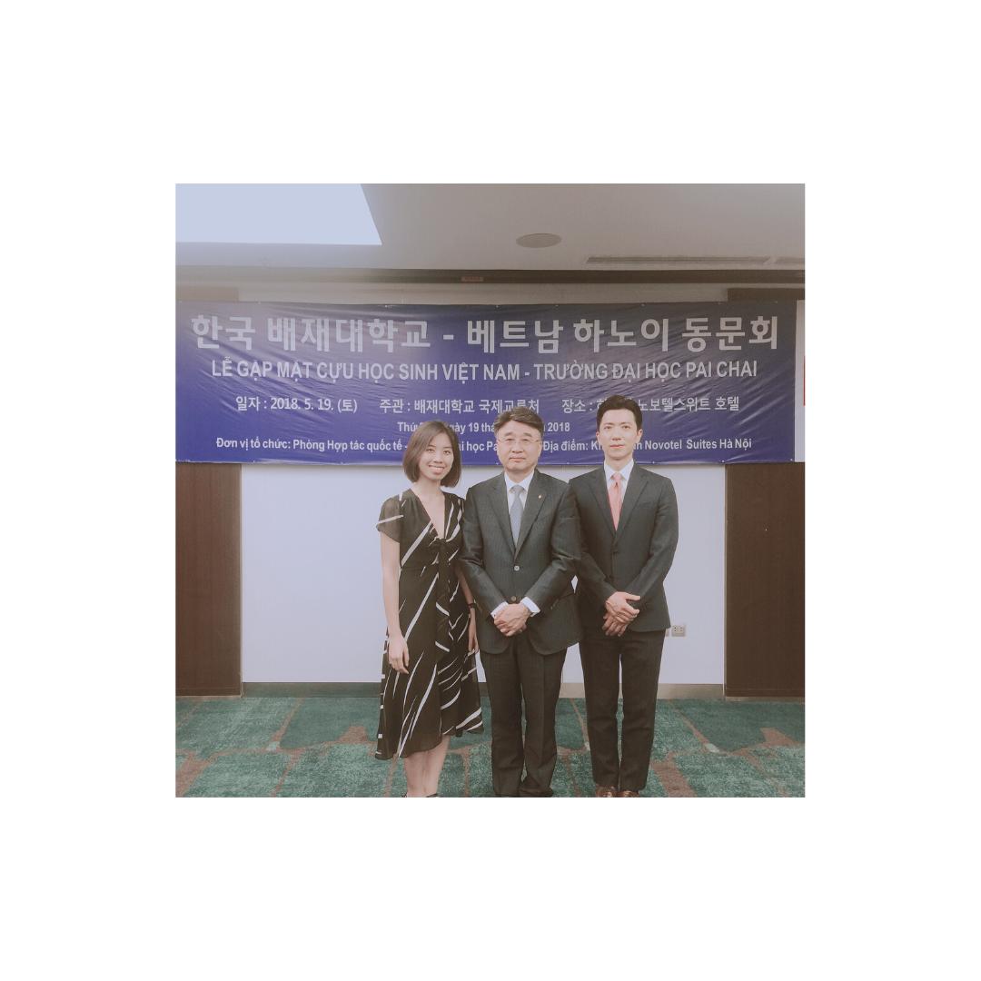 gặp đại diện trường THPT từ Hàn Quốc