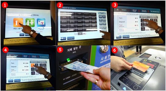 Cách nạp tiền vào thẻ và cà thẻ khi qua cửa