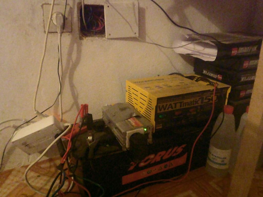 Systeme électrique sur batterie de secours