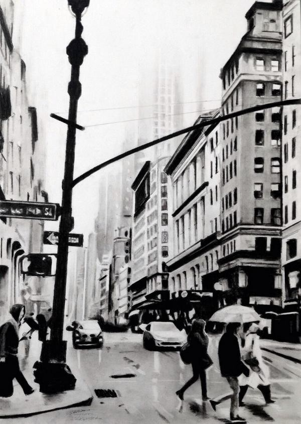 streets of New York | 42 x 59 cm | Sold
