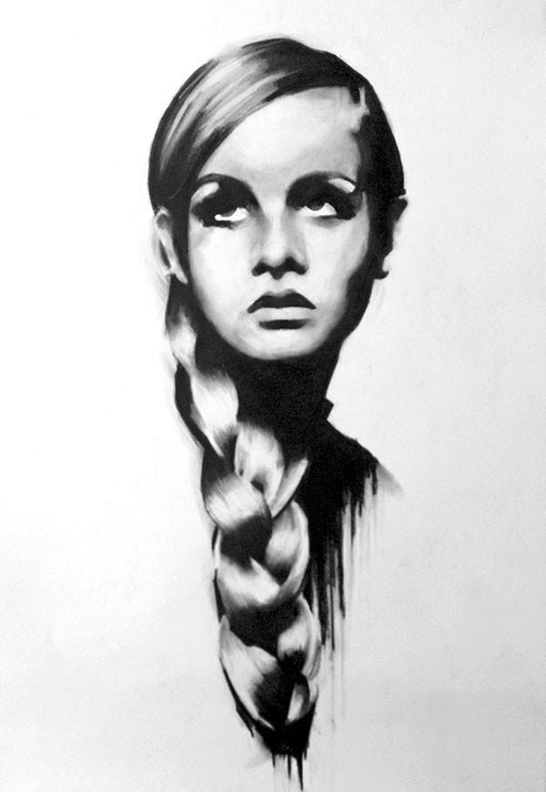 Twiggy | 42 x 59 cm | Eur 200