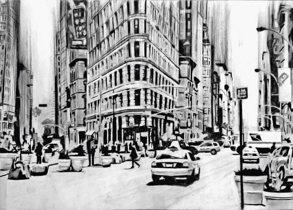 New York Street | 59 x 42 cm | Sold