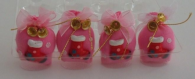 Pink Christmas Stock Motif Christmas Gift Sack