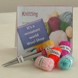 It's a miniature world wool and knitting needle pack