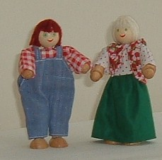 Mother & Father Wooden Dolls