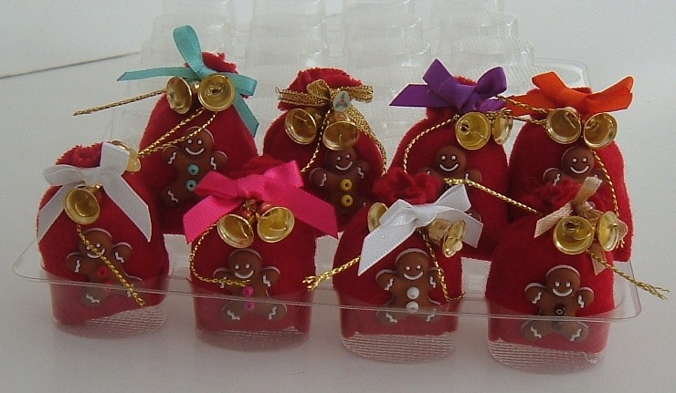 Red Gingerbread Man Christmas Gift Sack