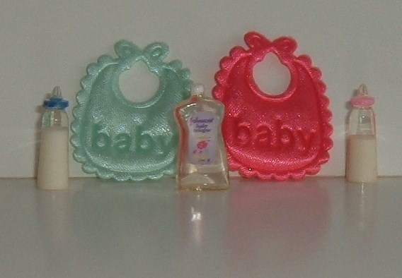 Pair of Baby Bibs Bootle & Shampoo