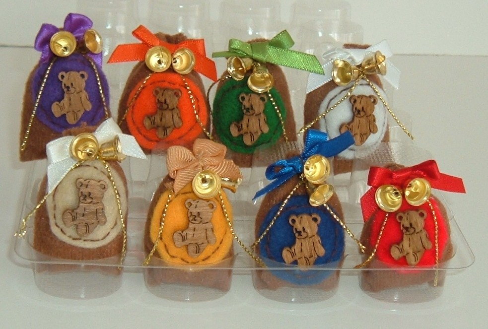 Brown Teddy Bear Christmas Gift Sack