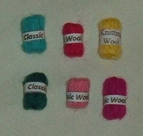 Pack of 6 Assorted Coloured Wool