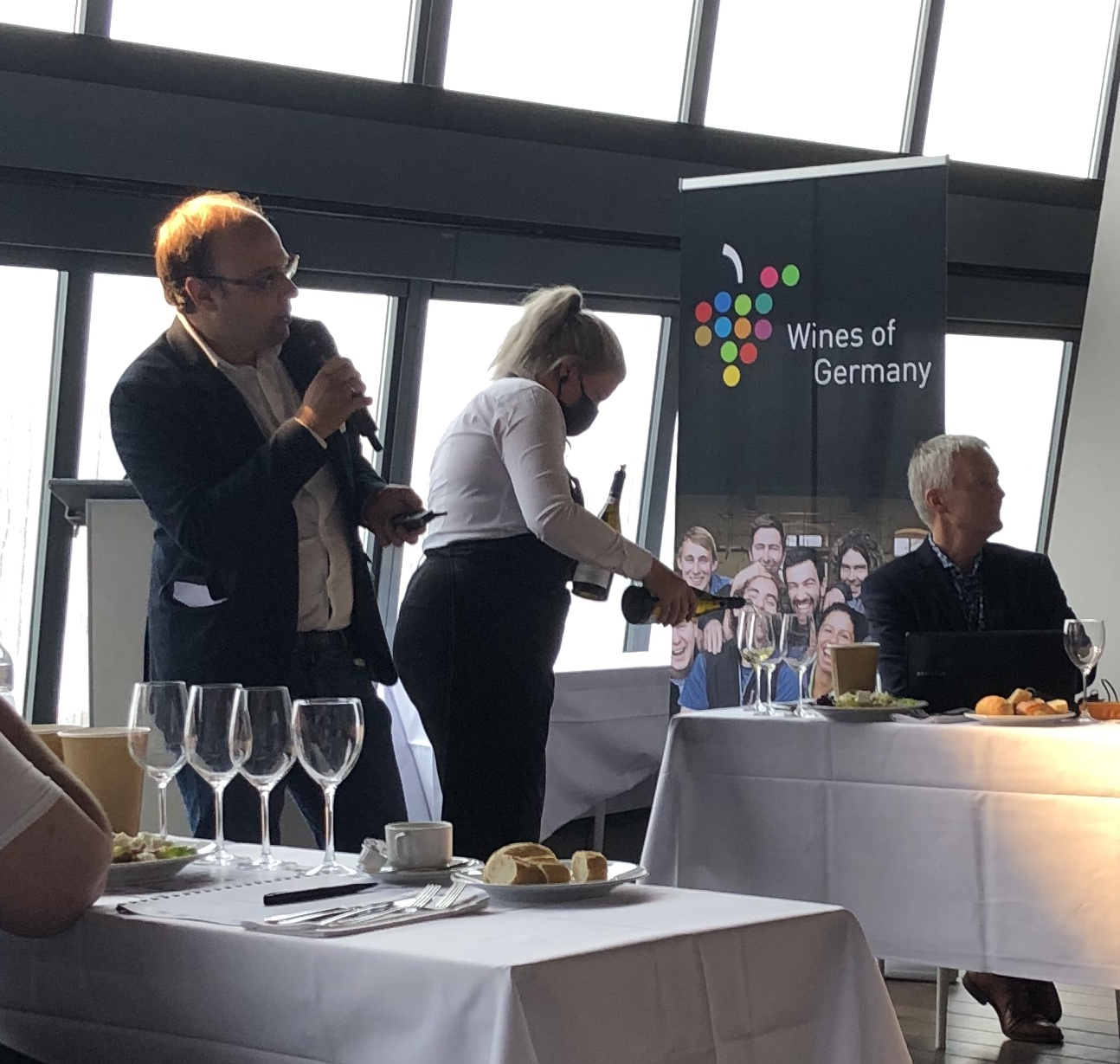 Gerd Brabant, al bijna 20 jaar actief in de Duitse wijnwereld, mede-organisator.
